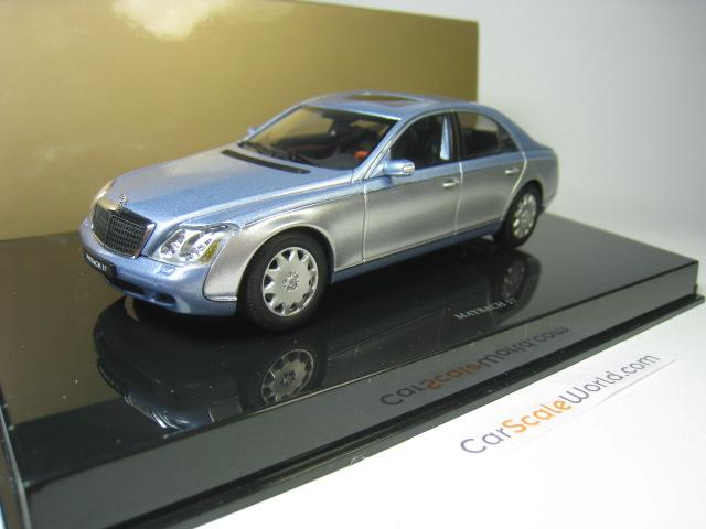 maybach 57 1 43 autoart light blue grey carscaleworld
