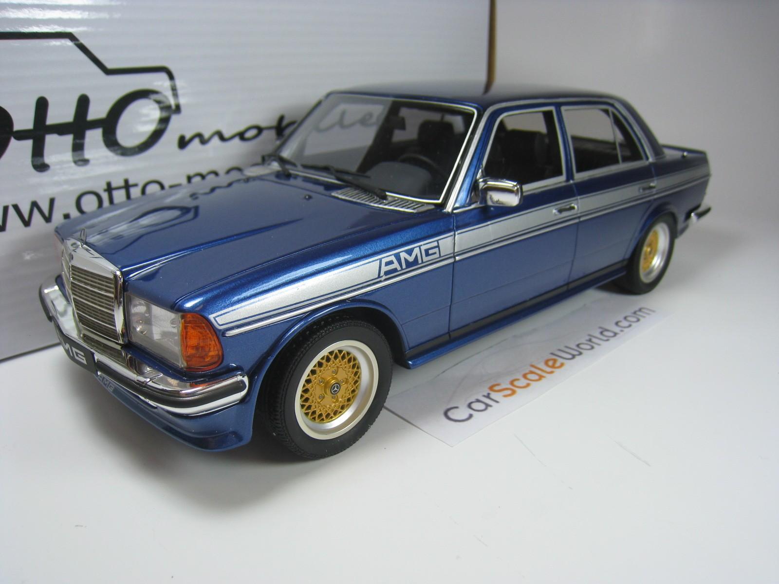 Mercedes benz 280e amg w123 1 18 otto mobile blue for Mobile mercedes benz
