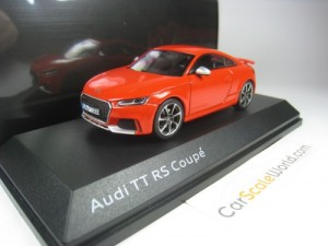 AUDI TT RS COUPE 2016 1/43 iSCALE (CATALUNYA RED)