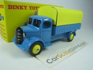 AUSTIN COVERED WAGON DINKY TOYS ATLAS (BLUE/YELLOW