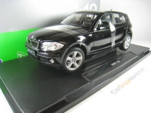BMW 1 SERIES 2003 E87 - 120i- 1/18 WELLY (BLACK)