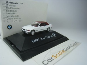 BMW 3 SERIES CABRIO SOFT TOP E36 1/87 HERPA (WHITE