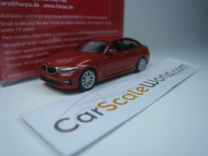 BMW 3 SERIES 2019 G20 1/87 HERPA (RED)
