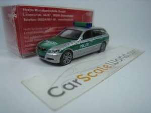 BMW 3 SERIES TOURING E91 POLIZEI 1/87 HERPA