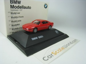 BMW 850i - 8 SERIES 1/87 HERPA (RED)