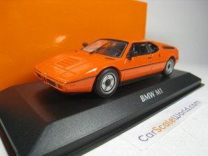 BMW M1 1979 1/43 MAXICHAMPS (ORANGE)