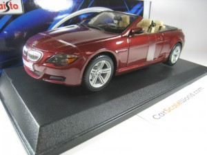 BMW M6 CABRIOLET E64 1/18 MAISTO (DARK RED)