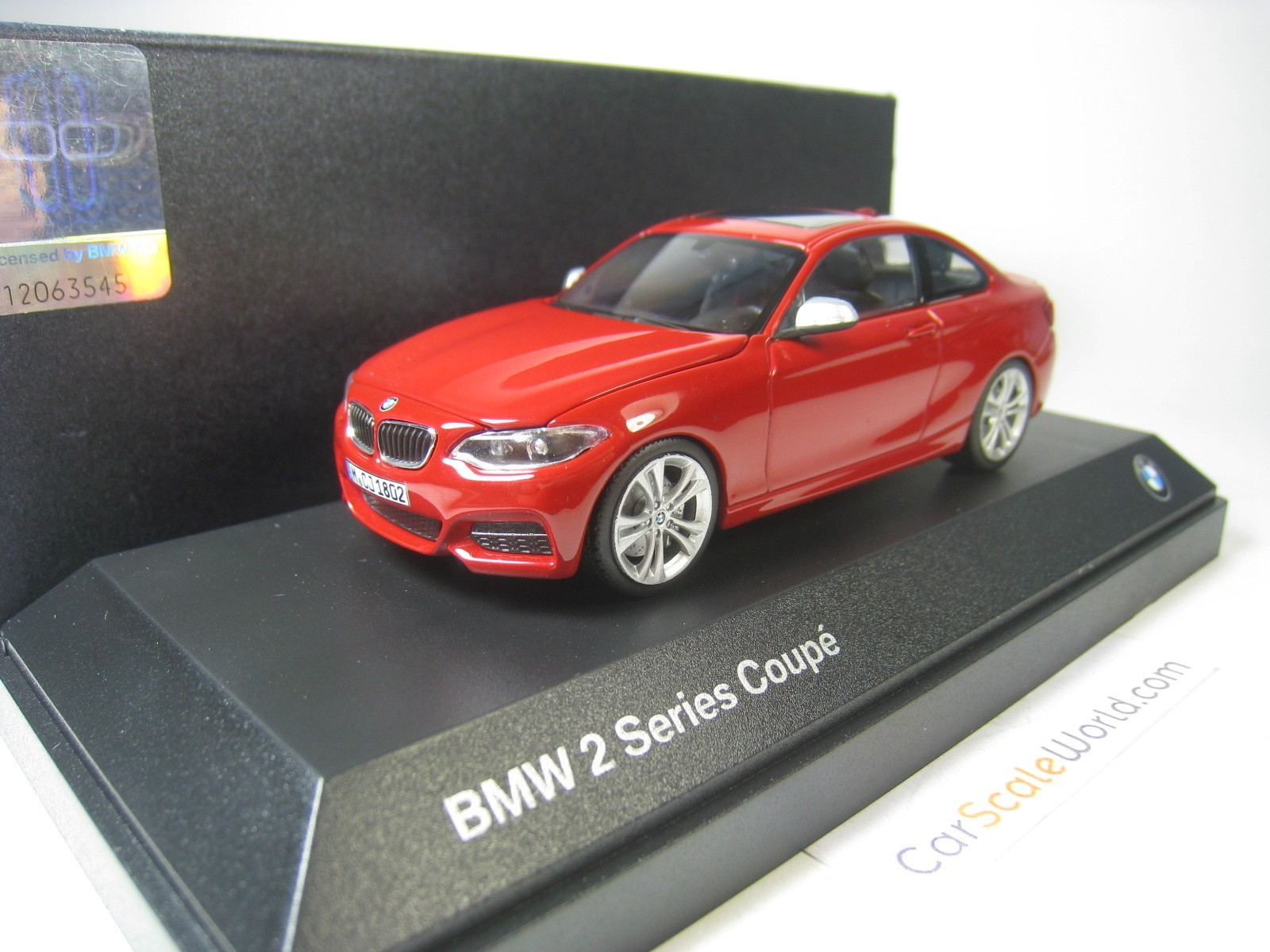 BMW 2 SERIES COUPE 1/43 PARAGON (RED)