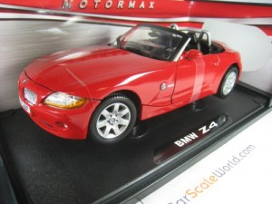 BMW Z4 ROADSTER 2003 1/18 MOTORMAX (RED)