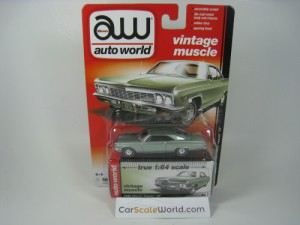 CHEVROLET IMPALA SS 1966 1/64 AUTOWORLD (GREEN)