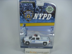 CHEVROLET SILVERADO 2015 NYPD 1/64 GREENLIGHT