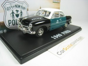 FORD COUPE 1949 NYPD 1/43 GREENLIGHT