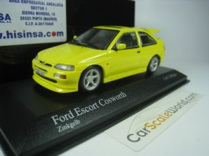 FORD ESCORT RS COSWORTH 1992 1/43 MINICHAMPS (YELL