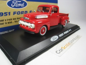FORD F-1 PICK UP 1951 1/43 GREENLIGHT (RED)