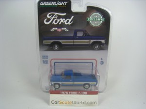 FORD F-100 1976 1/64 GREENLIGHT (BLUE)