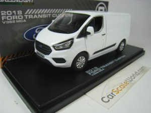 FORD TRANSIT CUSTOM 2018 V362 MCA 1/43 GREENLIGHT
