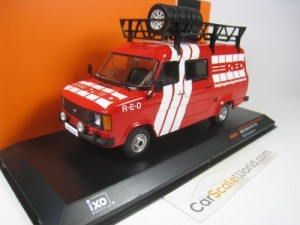 FORD TRANSIT MKII 1985 RED ASSISTANCE RALLY 1/43 I