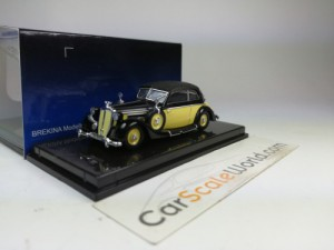 HORCH 930 V CABRIOLET 1/87 RICKO (YELLOW/BLACK)