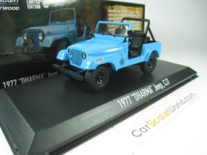 JEEP JC7 1977 DHARMA LOST 1/43 GREENLIGHT (BLUE)