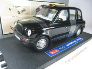 LTI TX1 LONDON TAXI CAB 1998 1/18 SUN STAR (BLACK)