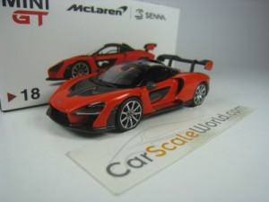 MCLAREN SENNA 2018 (LHD) 1/64 TSM MODEL - MINI GT