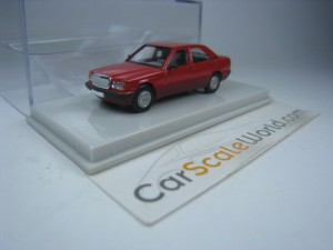 MERCEDES BENZ 190E W201 1/87 BREKINA STARMADA (RED