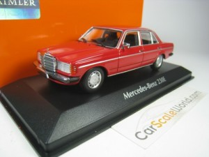 MERCEDES BENZ 230E 1982 W123 1/43 MAXICHAMPS (RED)