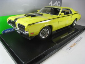 MERCURY COUGAR ELIMATOR 1970 1/18 WELLY (YELLOW)