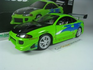 MITSUBISHI ECLIPSE BRIAN FAST AND FURIOUS 1/18 GRE