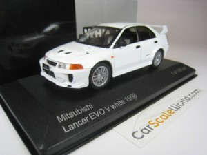 MITSUBISHI LANCER EVO V 1998 1/43 WHITEBOX (WHITE)