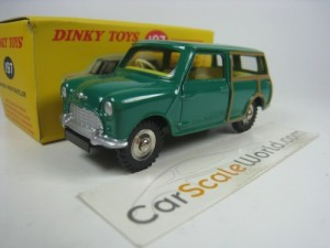 MORRIS MINI TRAVELLER 1/43 DINKY TOYS ATLAS (GREEN