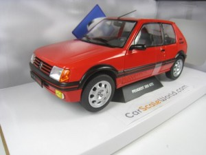 PEUGEOT 205 GTI 1.9 1988 1/18 SOLIDO (RED)