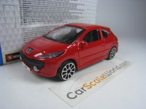 PEUGEOT 207 2007 3 DOORS 1/43 BBURAGO (RED)