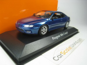 PEUGEOT 406 COUPE 1997 1/43 MAXICHAMPS (BLUE)