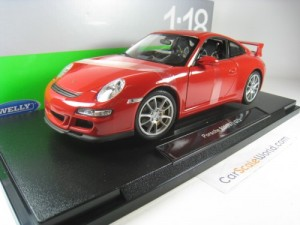 PORSCHE 911 GT3 (997) 1/18 WELLY (RED)