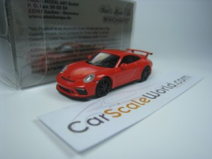 PORSCHE 911 GT3 (991) 2017 1/87 MINICHAMPS (ORANGE