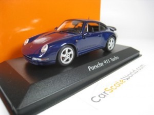 PORSCHE 911 TURBO (993) 1993 1/43 MAXICHAMPS (BLUE