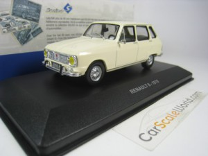 RENAULT 6 1970 1/43 SOLIDO (CREAM)