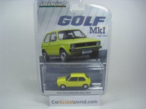 VOLKSWAGEN GOLF MK1 1974 1/64 GREENLIGHT (YELLOW)