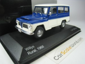 Willys Rural 1968 1/43 Whitebox (Blue/White)